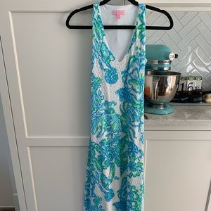 Like New Lilly Pulitzer Crochet/Lace Maxi Dress